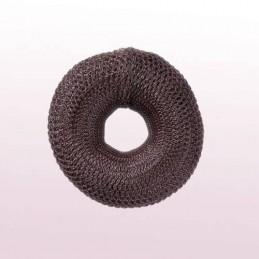 Hair roll, brown, 8cm