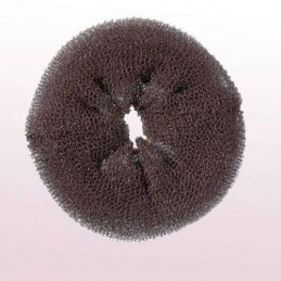Hair roll, brown, 11cm