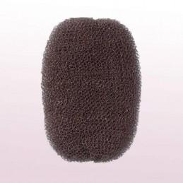 Hair roll, brown, 7x11cm